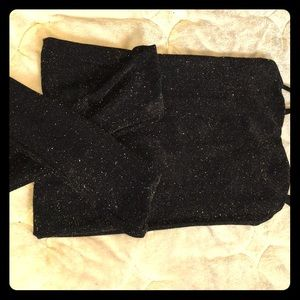 One piece black and glitter bodysuit